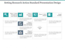 Setting Research Action Standard Presentation Design