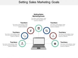 Setting Sales Marketing Goals Ppt Powerpoint Presentation Summary Influencers Cpb