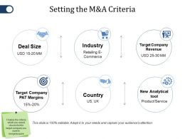 Setting The M And A Criteria Ppt File Outfit