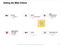 Setting The M And A Criteria Ppt Powerpoint Presentation Gallery Portrait
