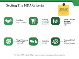 Setting The M And A Criteria Ppt Styles Tips