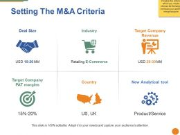 Setting The M And A Criteria Ppt Visual Aids