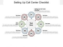 Setting Up Call Center Checklist Ppt Powerpoint Inspiration Examples Cpb