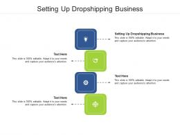 Setting Up Dropshipping Business Ppt Powerpoint Presentation Infographics Gallery Cpb