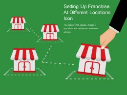 Setting Up Franchise At Different Locations Icon