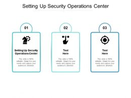 Setting Up Security Operations Center Ppt Powerpoint Presentation File Graphic Images Cpb