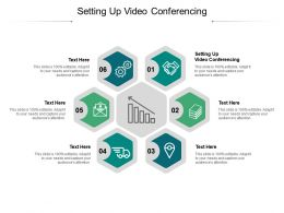 Setting Up Video Conferencing Ppt Powerpoint Presentation Inspiration Cpb