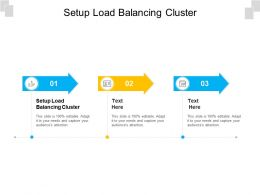 Setup Load Balancing Cluster Ppt Powerpoint Presentation Layouts Portrait Cpb