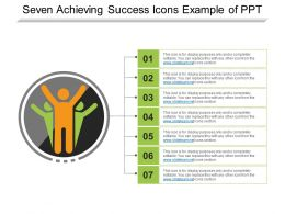 Seven Achieving Success Icons Example Of Ppt