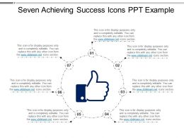 Seven Achieving Success Icons Ppt Example