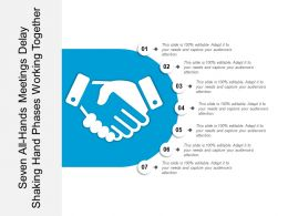 Seven All Hands Meetings Delay Shaking Hand Phases Working Together