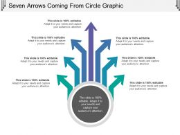 Seven Arrows Coming From Circle Graphic
