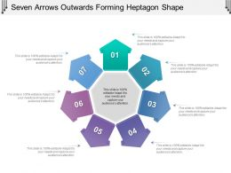 Seven Arrows Outwards Forming Heptagon Shape