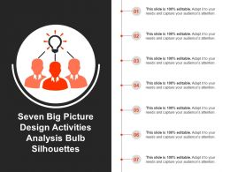 Seven Big Picture Design Activities Analysis Bulb Silhouettes