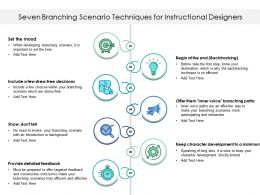 Seven Branching Scenario Techniques For Instructional Designers