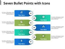 Seven Bullet Points With Icons