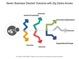 Seven Business Desired Outcome With Zig Zacks Arrows