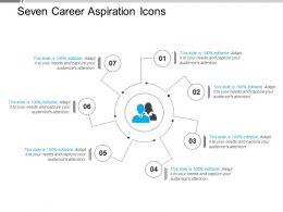 Seven Career Aspiration Icons Powerpoint Slide Rules