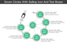 Seven Circles With Selling Icon And Text Boxes