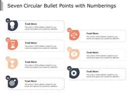 Seven Circular Bullet Points With Numberings