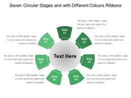 Seven Circular Stages And With Different Colours Ribbons