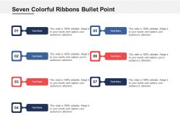 Seven Colorful Ribbons Bullet Point