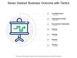 Seven Desired Business Outcome With Tactics
