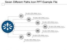 Seven Different Paths Icon Ppt Example File