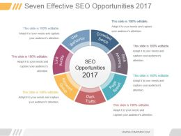 Seven Effective Seo Opportunities 2017 Powerpoint Layout