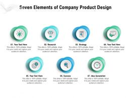 Seven Elements Of Company Product Design