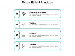 Seven Ethical Principles Ppt Powerpoint Presentation Show Model Cpb