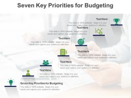 Seven Key Priorities For Budgeting Ppt Powerpoint Presentation Layouts Topics Cpb