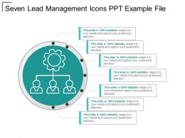 Seven Lead Management Icons Ppt Example File