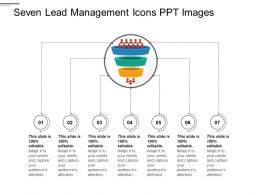 Seven Lead Management Icons Ppt Images