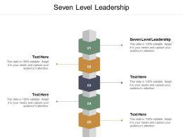 Seven Level Leadership Ppt Powerpoint Presentation Summary Design Ideas Cpb