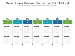 Seven Linear Process Diagram For Point Method Infographic Template