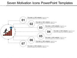 Seven Motivation Icons Powerpoint Templates