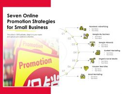 Seven Online Promotion Strategies For Small Business