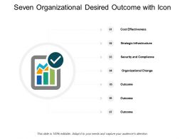 Seven Organizational Desired Outcome With Icon