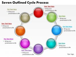 seven outlined cycle process powerpoint diagrams presentation slides graphics 0912
