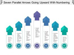 Seven Parallel Arrows Going Upward With Numbering