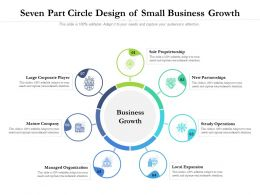 Seven Part Circle Design Of Small Business Growth