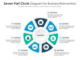 Seven Part Circle Diagram For Business Reinvention Infographic Template