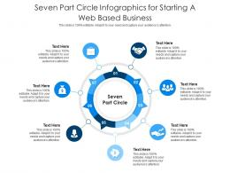 Seven Part Circle For Starting A Web Based Business Infographic Template