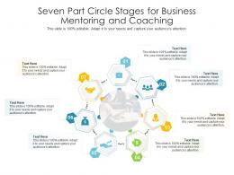 Seven Part Circle Stages For Business Mentoring And Coaching Infographic Template