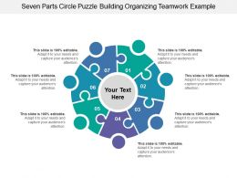 Seven Parts Circle Puzzle Building Organizing Teamwork Example