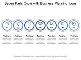 Seven Parts Cycle With Business Planning Icons