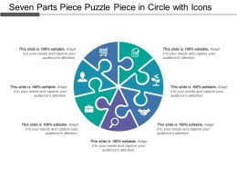 Seven Parts Piece Puzzle Piece In Circle With Icons