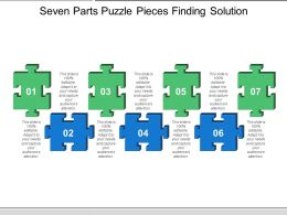 Seven Parts Puzzle Pieces Finding Solution