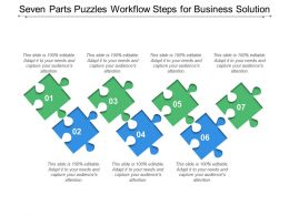 Seven Parts Puzzles Workflow Steps For Business Solution